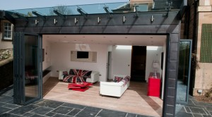 Folding doors opening homes to the garden